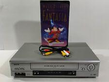 Sanyo VWM-900 VCR VHS Video Cassette Player 4-Head Hi Fi No Remote, A/V Cords