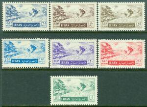 EDW1949SELL : LEBANON 1955 Scott #C200-06 Skiing. Complete set. VF, MNH. Cat $47