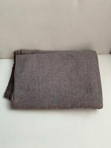 FAWN BROWN colored WOOL TWEED cloth 2 2/3y or 2.5m