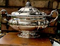 Antique English Silver Plate Tureen Dish Elkington