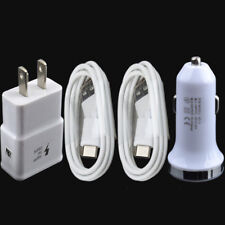 DC LED Car Charger + AC Power Wall Adapter + 2x USB Sync Cable for LG Phones