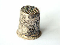 ca.1900 Fine Silver Sewing Thimble South Italy/France, Collectible Sewing Access