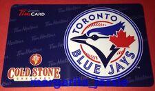 TIM HORTONS COLD STONE GIFT CARD TORONTO BLUE JAYS NO VALUE 2013 FD29299 CANADA