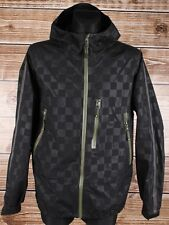 Adidas Gore Tex Obyo Hooded Check Men Jacket Coat Size L, Genuine