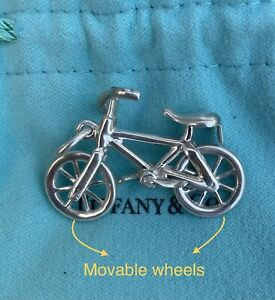 RARE TIFFANY & Co. LARGE Bike Bicycle Charm For Necklace Bracelet Silver 925