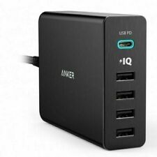 Anker PowerPort 5 Port 60W USB-C Charger with PD Fast Charge Mac Samsung Apple