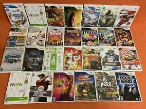 Authentic Nintendo Wii Game Lot of (27) Star Wars Tiger Woods Call Duty & More!