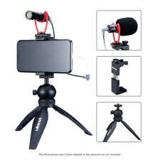 Ulanzi Phone Video Mount Kit Ball Head Tripod Clip Bracket Holder w/ Microphone