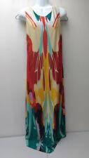 Melissa Masse Size Large MATERNITY DRESS Butterfly Print Maxi Brushstroke Long