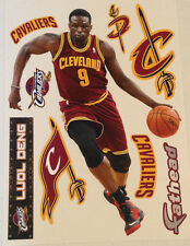 """Luol Deng Fathead 17"""" Player Graphic + (6) Cavaliers Logos +Name Sign Wall Decal"""