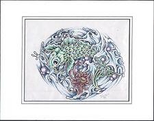 Original Hand-Drawn Tattoo Prison Art Wolfe 1999 Outsider Art