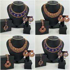 Indian Bridal Jewellery Set Choker Necklace Earrings Maang Tikka Bollywood