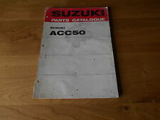 Suzuki, Parts catalogue ACC50, 1st edition printed 1971, 99000 91630