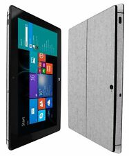 Skinomi Brushed Aluminum Skin+Clear Screen Protector for Microsoft Surface Pro 2