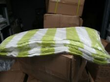 3 Pack Large Beach Resort Pool Towels in Cabana Stripe 30x60 100% COTTON GREEN
