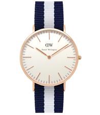 Daniel Wellington Classic Glasgow Blue/White Striped Nylon Men's Watch 0104DW