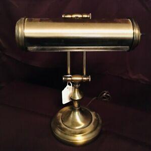 Vintage Brass Bankers Desk Lamp