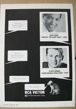 Sam Cooke- Twistin' The Night Away/Floyd Cramer- Chattanooga 1962 Ad- RCA Victor