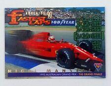 1995 Futera Australian F1 Grand Prix Fastest Laps card #FL6 Nigel Mansell