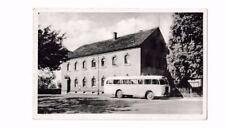 Foto AK Ferienheim Gasthof Aitzendorf/Geringswalde Rochlitz@Oldtimer Bus@ca 1955