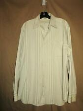 TOMMY BAHAMA OFF WHITE/LT. SAGE GREEN SILK BLEND BUTTON FRONT SIZE M
