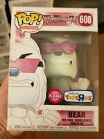 Funko Pop Teen Titans Go! Bear 608 Flocked exclusive in protector