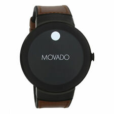 Movado Connect Smartwatch Black Dial Brown Leather Men's Watch 3660019 SD