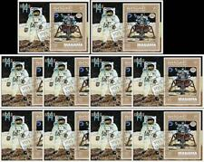 MANAMA = SPACE x10 S/S  APOLLO 14 MODULE on MOON + ALAN SHEPARD $$ WHOLESALE $$