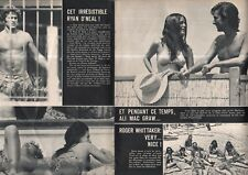 Coupure de presse Clipping 1971 Ryan O'Neal Ali Mac Graw Roger Whittaker 2 pages