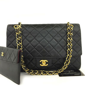 CHANEL Quilted Matelasse CC Logo Lambskin Chain Shoulder Bag w/Wallet /50794