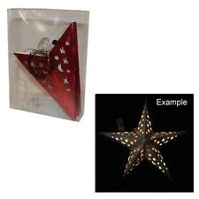 Weihnachtsdekoration LED Light Up Star Laterne Rot