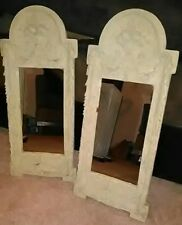Decorative Pair Of Grecian Scroll Wall Mirrors by Dayton Hudson *Very Heavy!