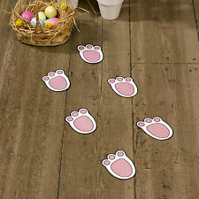 12 EASTER BUNNY RABBIT FOOTPRINTS Egg Hunt Trail Party Game Paws Feet Children
