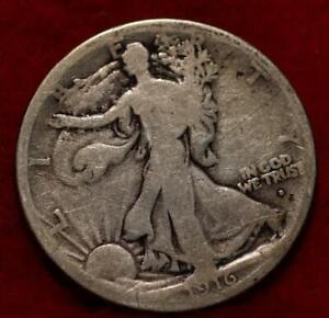 1916-D Obverse Mint Mark Denver Mint Silver Walking Liberty Half