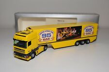 S TEKNO DAF 95 TRUCK WITH TRAILER SUPER SPACE CAB YELLOW MINT BOXED
