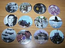 New from a Tray 7th  Print Set 5 Cent AAFES Pogs 2005B  Uncir. All 12 pogs