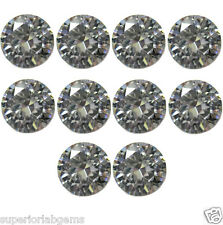 10x 1.00 mm 0.10ct  Round Cut Lab Diamond, Sim Diamond WITH LIFETIME WARRANTY