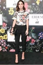 ERDEM x H&M Patterned Top White Floral T Tee Shirt M  NWT IN HAND