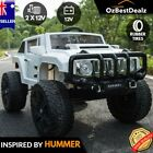 Hummer Inspired White Kids Ride On Car Baby Remote Control LIGHTS Music rubber