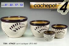 SET 4 CACHEPOT DECORATI VASO TDS-479625