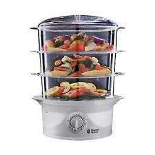 Russell Hobbs 21140 Compact 3-Tier Turbo Design 9L 800W Food Steamer