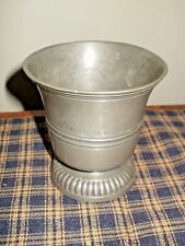 ANTIQUE PEWTER FOOTED CUP