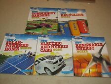 Ecoworks, Lot of 5 books, New, How Recyling works, Solar, Gardens, hybrid,
