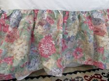 Martex Muted Floral Queen Bed Skirt Dust Ruffle English Cottage-Exclnt! Usa