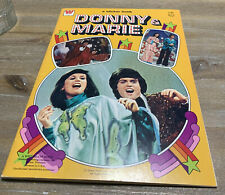 "1977 Donny & Marie Sticker Book 8.5"" x 12"" Unused Unplayed With"