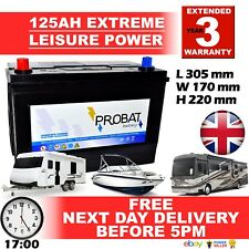 12V 125 AH DEEP CYCLE NEW HEAVY DUTY LEISURE BATTERY CARAVAN BOAT SOLAR MARINE £