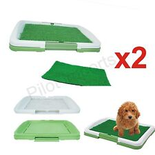2x PUPPY POTTY TRAINING PAD MAT PET TOILET TRAINER  DOG LITTER TRAY INDOOR HOUSE