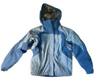 Women's Blue Northface Jacket With Removeable Polar Fleece Lining Zip Up. Sz Med