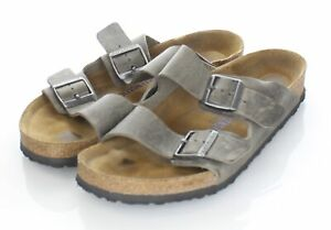 Q50 $135 Men's Sz 10 M Birkenstock Arizona Oiled Leather Soft Footbed Sandal