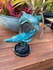Listed Artist Gary R Johnson LARGE Patina Bronze Dolphin Sculpture wyland wyatt